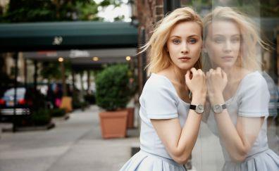 Sarah Gadon, blonde model, reflections, actress