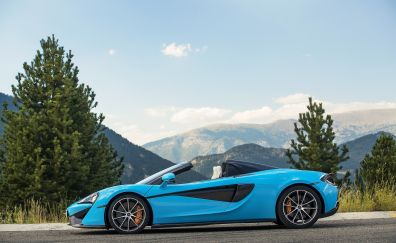 Mclaren 570s, sports car, blue, 4k