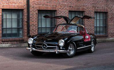 Mercedes-Benz 300 SL, black car, luxury car