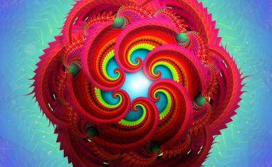 Fractals, radial, abstract, 4k