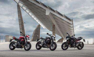 Motorcycles, Triumph Street Triple, 4k