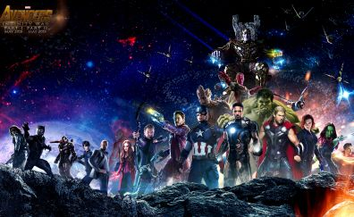 Avengers: Infinity War, superheroes, poster, 4k