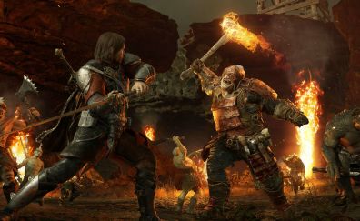Middle-earth: shadow of war, talion, fight, 5k