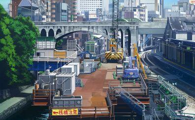 Original, anime, city