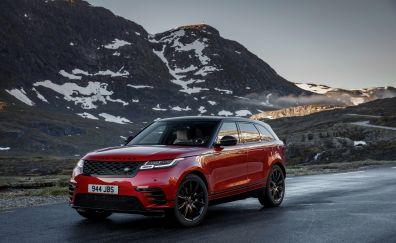 New Range Rover Velar - R-Dynamic, red car, 2017