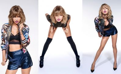 Taylor swift, blonde, various poses, collage