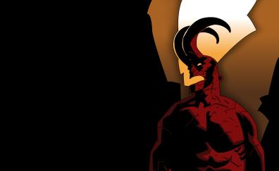 Hellboy, marvel comics, minimal