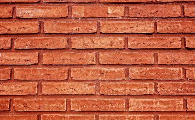 Bricks wall, texture, surface, 4k