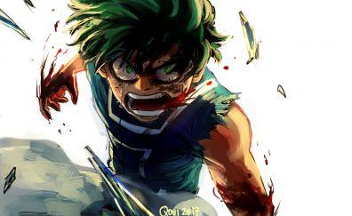 Angry, anime boy, My Hero Academia, Izuku Midoriya