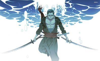 Roronoa Zoro, underwater, katana, anime