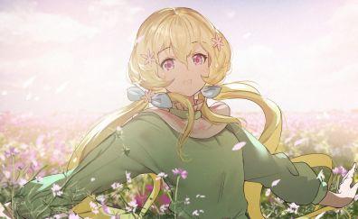 Blonde, anime girl, Aria Futaba, Aikatsu Stars!