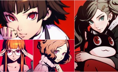 Anime girls, video game, persona 5