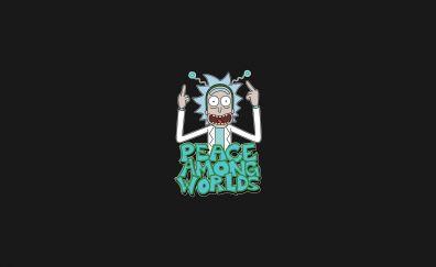 Rick and morty, humor, cartoon, minimal