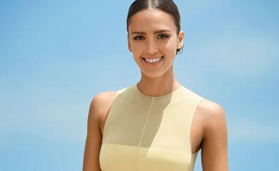 Beautiful celebrity, Jessica Alba, smile