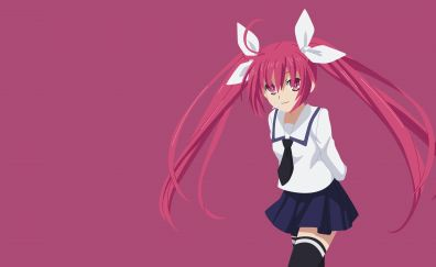 Kotori Itsuka, Date A Live, red head anime girl, 4k