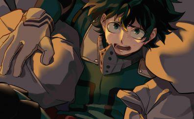 Izuku Midoriya, My hero academia, feared, anime boy