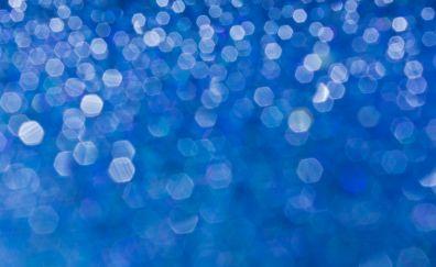 Christmas lights, bokeh, abstract, hexagons, 4k