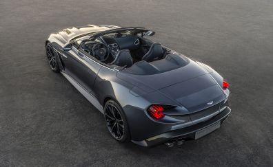 Aston Martin Vanquish Zagato, rear view, convertible car