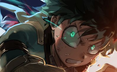 Izuku Midoriya, anime boy, My Hero Academia, face