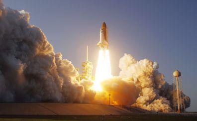Smoke, launch, fire, Space Shuttle