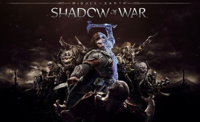 Middle-earth: Shadow of War, 2017 game, cover, 4k