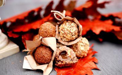 Truffles, peanut, butter, caramel, chocolate