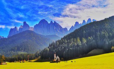 Dolomites, italy, landscape, mountains