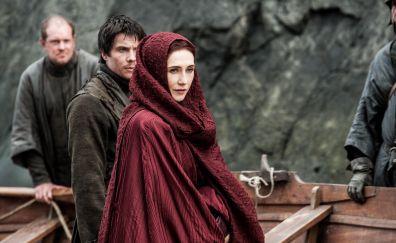 Carice van Houten, Melisandre, game of thrones, tv show, 4k