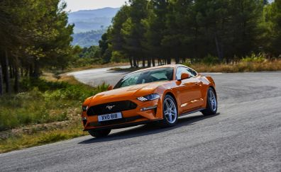 On road, muscle car, Ford Mustang GT-R, 5k
