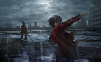 Ryougi Shiki, Assassin, Fate/Grand Order, anime girl, art