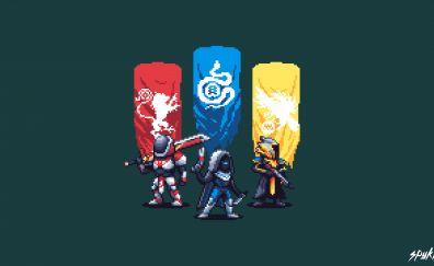 Destiny 2, pixel artwork, 4k