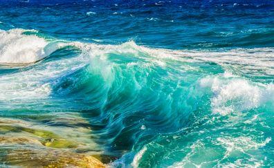 Sea waves, sea, blue sea, close up