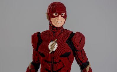 The Flash, lego, superhero, art