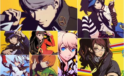 Characters, collage, video game, persona 5