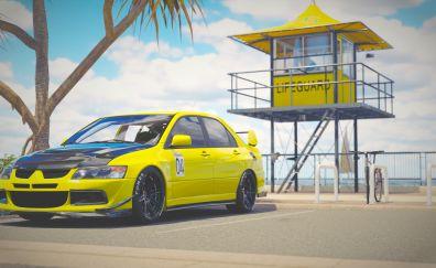 Forza Horizon 3, video game, Mitsubishi Lancer Evolution, car