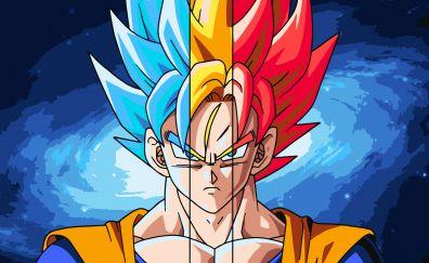Goku, dragon ball, super sian, anime