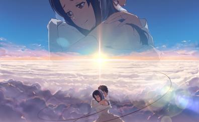 Mitsuha Miyamizu and Taki Tachibana of Kimi no na wa. anime