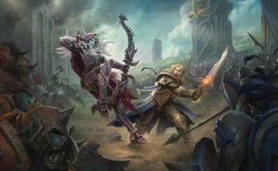 World of Warcraft: Battle for Azeroth, video game, fight, warriors