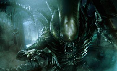 Alien: covenant, movie, creature