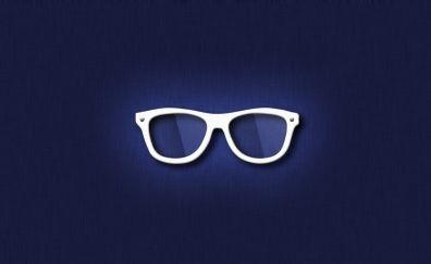 White Hipster glasses, illustration
