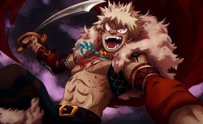 Anime boy, Katsuki Bakugou, sword, Boku no Hero Academia