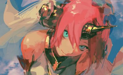 Red head, anime girl, Fate/Apocrypha, anime art