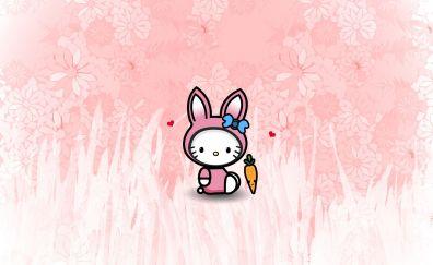Bunny, carrot, Easter, art