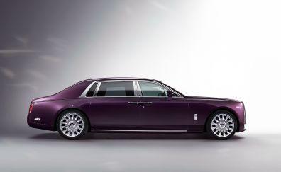 Rolls-Royce Phantom, side view, purple car
