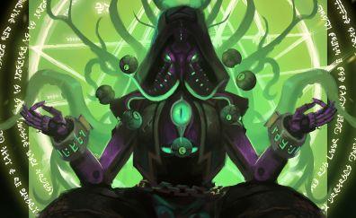 Zenyatta, overwatch, art, meditation
