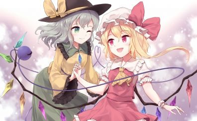 Cute anime girls, Flandre Scarlet, Koishi Komeiji, thouhou