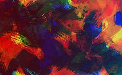 Colorful, paint, texture, 4k