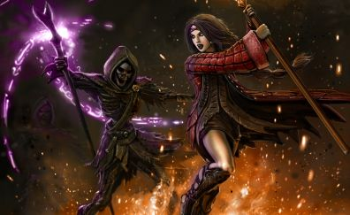 Reaper, girl warrior, fantasy