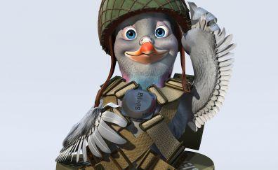 Bird solider, valiant, animated movie