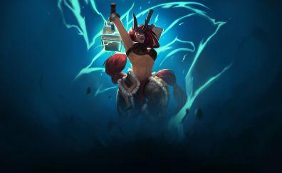 Battlerite, girl warrior, game, art